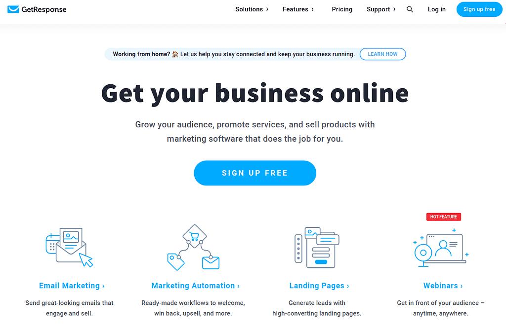 Sign Up Free - GetResponse
