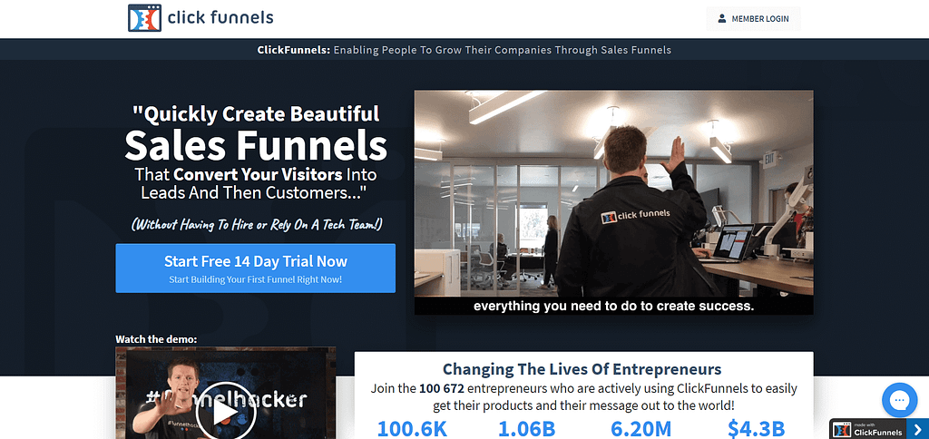 Clickfunnels Review Homepage - Funnelopedia