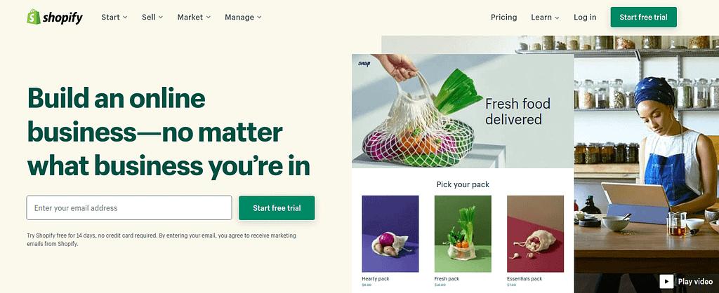 Start Free Trial - Shopify