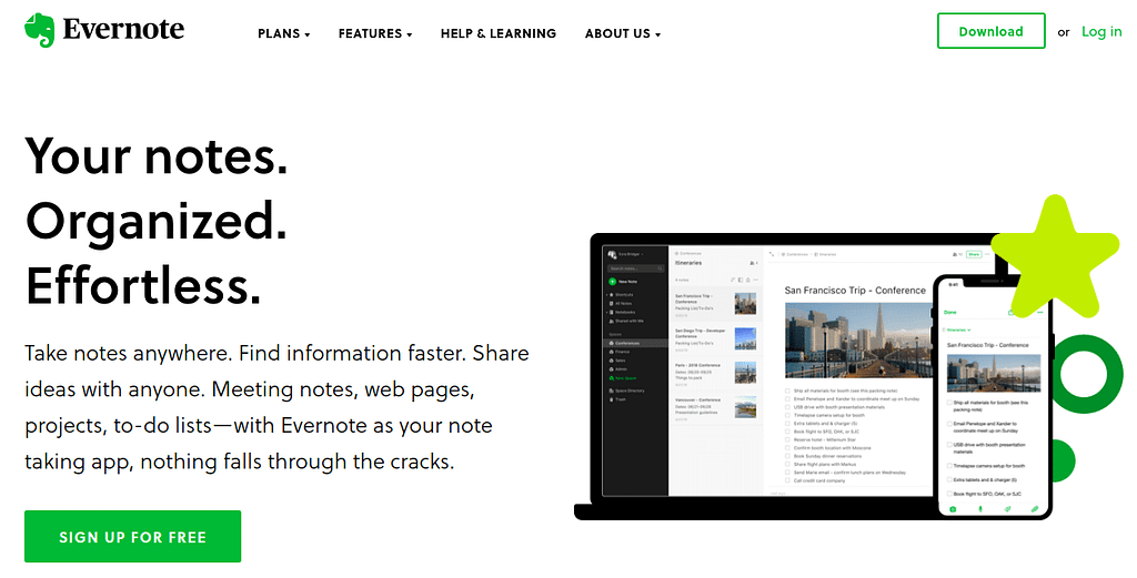 Sign Up For Free - Evernote