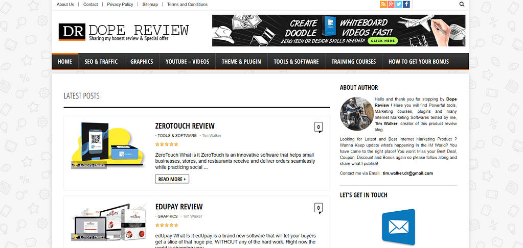 dope-review.com homepage Upviral Review