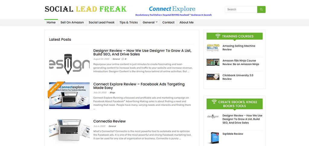 socialleadfreak.com homepage upviral Review