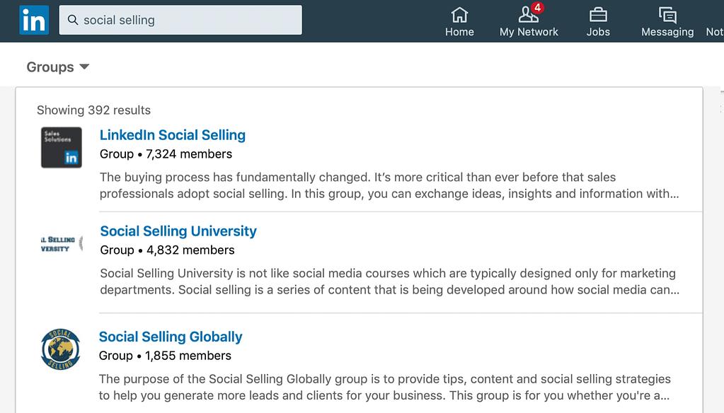Linkedin sales funnel groups
