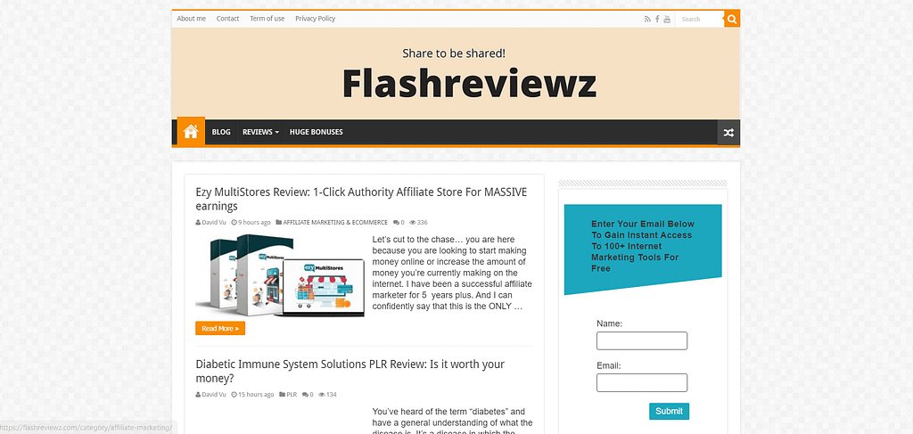 flashreviewz.com homepage Upviral Review