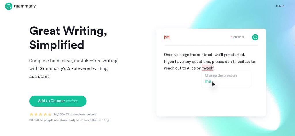 copywriting tool tips - grammarly