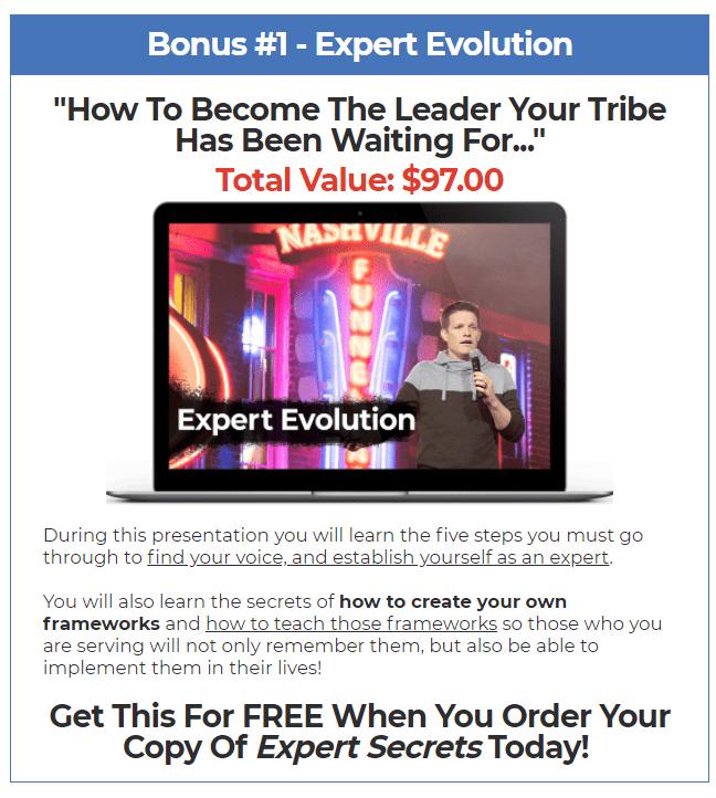 expert secret bonus 1